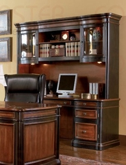 Credenza with Hutch in Cappuccino / Dark Oak - Coaster