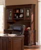 Credenza with Hutch in Cherry Archaize - Coaster
