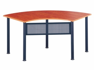 Crescent Table in Cherry - Mayline Office Furniture - 2448CE