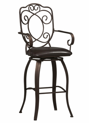 Crested Back Bar Stool 30