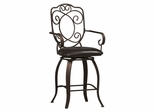 "Crested Back Counter Stool 24"" - Linon Furniture - 02786MTL-01-KD-U"