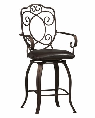 Crested Back Counter Stool 24