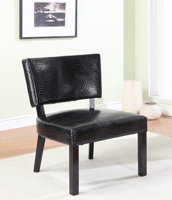 Crocodile Print Faux Leather Accent Chair - Powell Furniture - 383-630