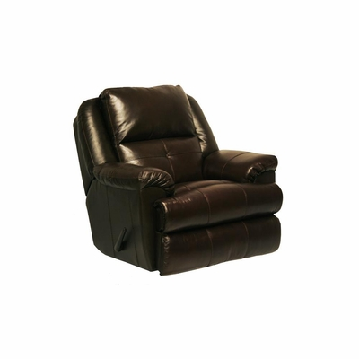 Crosby Leather Recliner in Mahogany - Catnapper