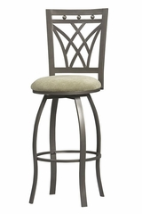 Crown Back Bar Stool - Linon Furniture - 02721MTL-01-KD-U