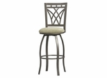 Crown Back Counter Stool - Linon Furniture - 02720MTL-01-KD-U