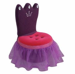 Crown Chair in Pink/Purple - Lumisource - CHR-CROWN