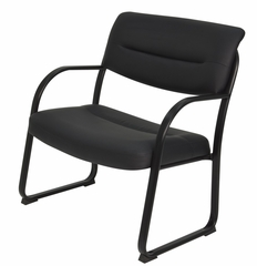 Crusoe Big and Tall Leather Side Chair - ROF-1106BK
