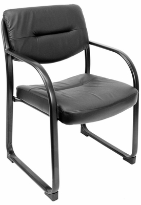 Crusoe Leather Side Chair - 1006BK