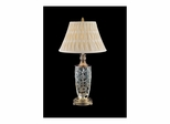 Crystal Floral Etched Table Lamp - Dale Tiffany