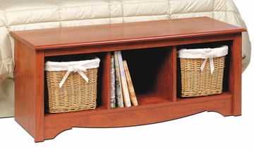 Cubbie Bench in Cherry - Monterey Collection - Prepac Furniture - CSC-4820
