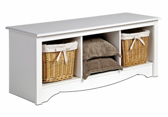 Cubbie Bench in White - Monterey Collection - Prepac Furniture - WSC-4820