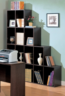 Cube Bookcase in Cappuccino - Coaster