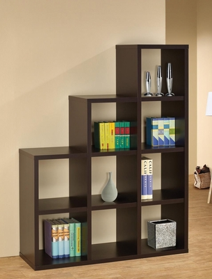 Cube Bookshelf in Cappuccino - 800295