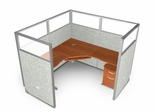 "Cubicle Panel System, 1X1 Layout, 63""H, 72""W, Polycarbonate Panel Tops - OFM - R1X1-6372-P"