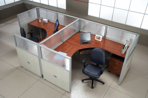Cubicle Panel System, 1X2 Layout, 47