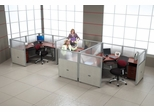 "Cubicle Panel System, 1X3 Layout, 47""H, 72""W, Polycarbonate Panel Tops - OFM - R1X3-4772-P"