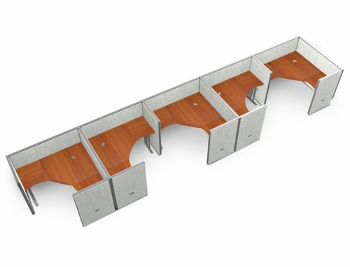 Cubicle Panel System, 1X5 Layout, 47