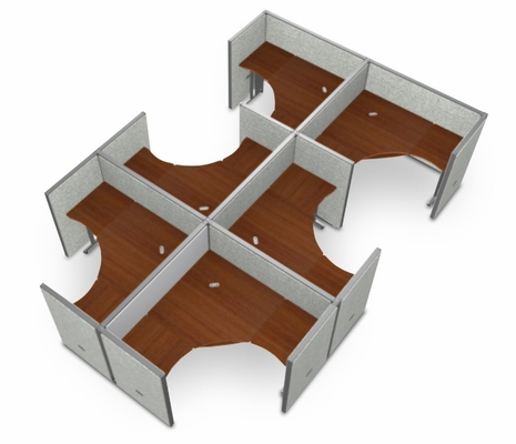 Cubicle Panel System, 2X3 Layout, 47
