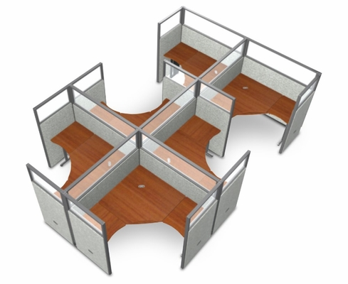 Cubicle Panel System, 2X3 Layout, 63