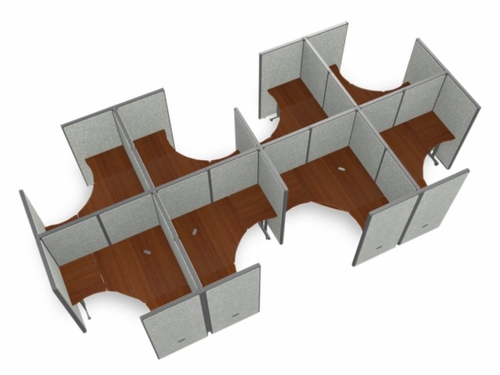 Cubicle Panel System, 2X4 Layout, 63