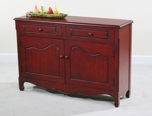 Cupboard in Distressed Red - Rachel - Ultimate Accents - 50776CB