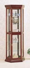 Curio Cabinet in Cherry - Coaster