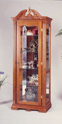 Curio Cabinet in Oak - Coaster