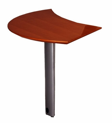Curved Desk Left Extension in Sierra Cherry - Mayline Office Furniture - NEXTLCRY