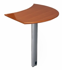 Curved Desk Right Extension in Golden Cherry - Mayline Office Furniture - NEXTRGCH