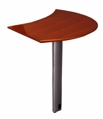Curved Desk Right Extension in Sierra Cherry - Mayline Office Furniture - NEXTRCRY