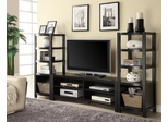 Curved Front TV Console with Media Towers in Cappuccino - 700697