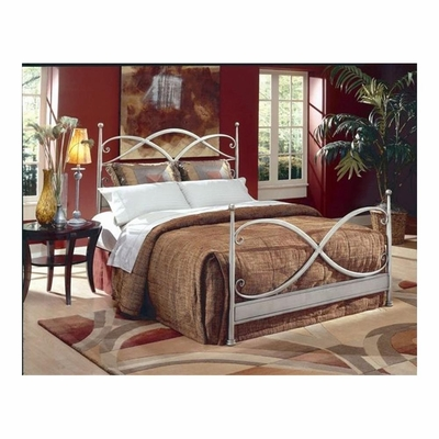 Cutlass German Silver Metal Bed - Largo - LARGO-ST-1047-METAL-BED
