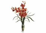 Cymbidium Silk Flower Arrangement - Nearly Natural - 1183-BG