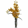 Cymbidium Silk Flower Arrangement - Nearly Natural - 1183-YL
