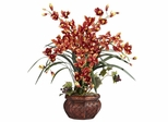 Cymbidium with Decorative Vase Silk Arrangement - Nearly Natural - 1245-BR