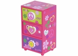 Daisy Peace & Love Jewelry Box in Pink - 80823