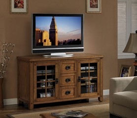 Dakota Media Console in Premium Oak - Classic Flame - TC56-1066-O107