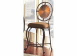 Dallas Circle Back Metal Stool Weathered Copper - Largo - LARGO-ST-D138-2X