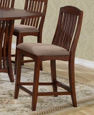 Dallas Counter Bar Stool (Set of 2) - Entree by APA Marketing - DAL-BS124RTA-SET