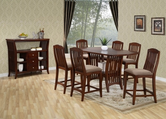 Dallas Counter Height Dining Set - Entree by APA Marketing - DAL-CDSET