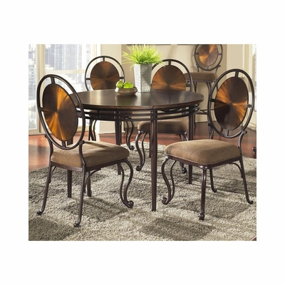Dallas Weathered Copper 5 Piece Dining Set - Largo - LARGO-ST-D138-30BT-41-SET