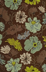 Dalyn Ambiance Flowers Area Rug in Chocolate - AB110