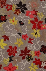 Dalyn Ambiance Flowers Area Rug in Grey - AB165