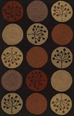 Dalyn Studio Tufted Black Circles Area Rug - SD42BK