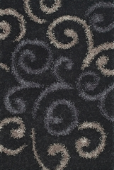 Dalyn Visions Black Area Rug - VN1BK