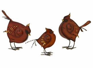 Dancing Cardinal Statuary (Set of 3) - IMAX - 59654-3
