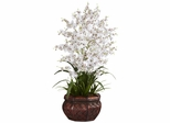 Dancing Lady Silk Flower Arrangement - Nearly Natural - 1207-WH