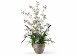 Dancing Lady Silk Orchid Arrangement in White - Nearly Natural - 1005-WH