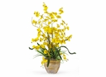 Dancing Lady Silk Orchid Arrangement in Yellow - Nearly Natural - 1005-YL